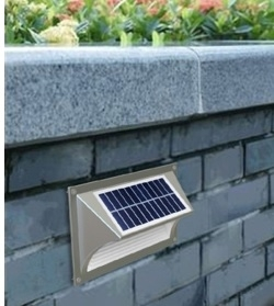 Solar Wall Light - Step Light 1W